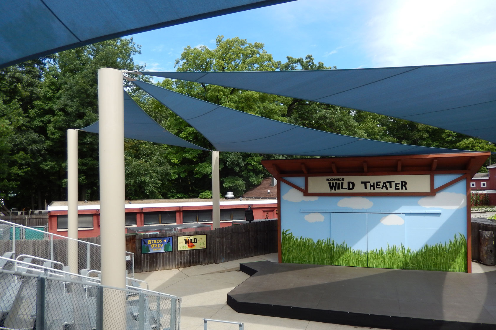 ... uncomfortable for zoo visitors potentially shortening the time spent viewing outdoor exhibits. Thanks to the protection of a new overhead canopy from ... & Milwaukee Zoo Adds Shade Canopy to Raptory Theater - Commercial ...