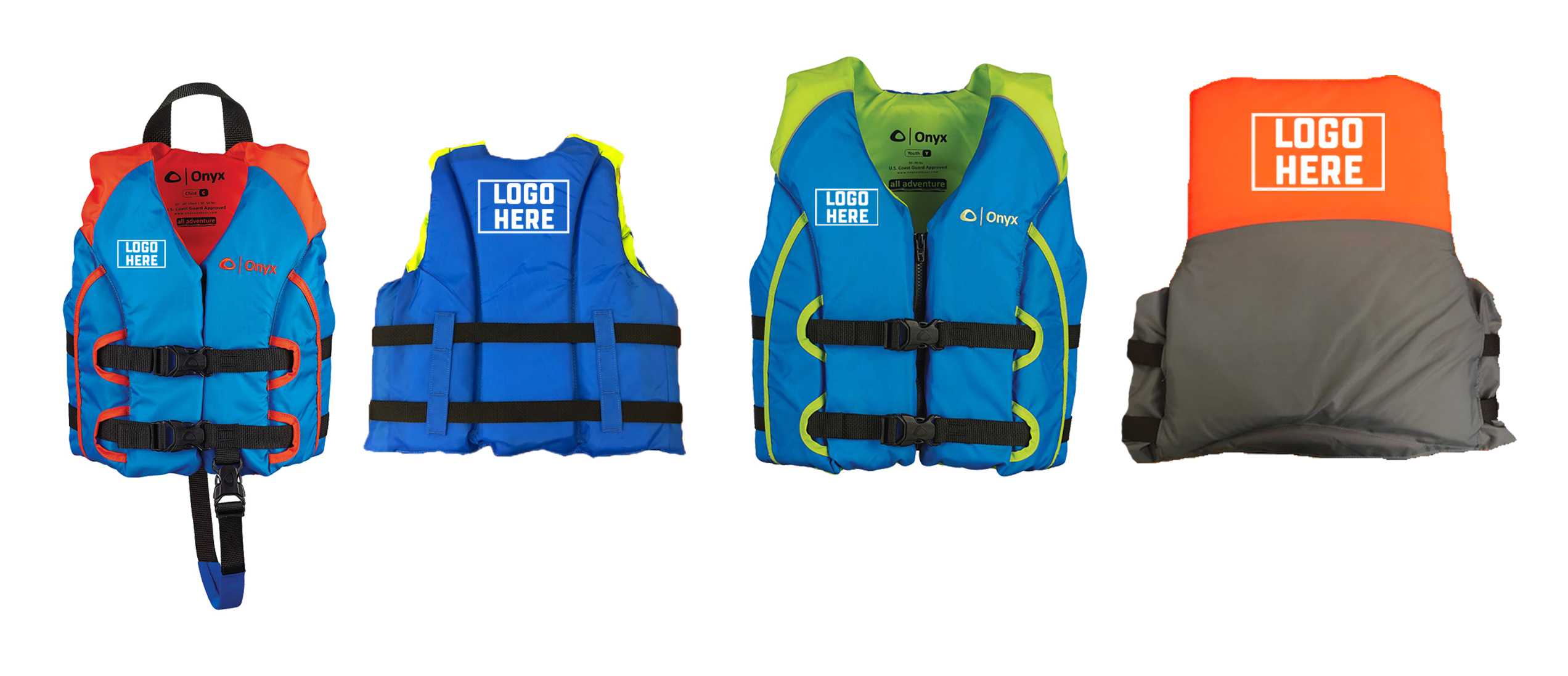 c6f2d5efd77b1 All Adventure Life Vest: Feature a segmented foam design for a better fit  and zippered front with waist belts to keep them from riding up. Child,  Youth ...